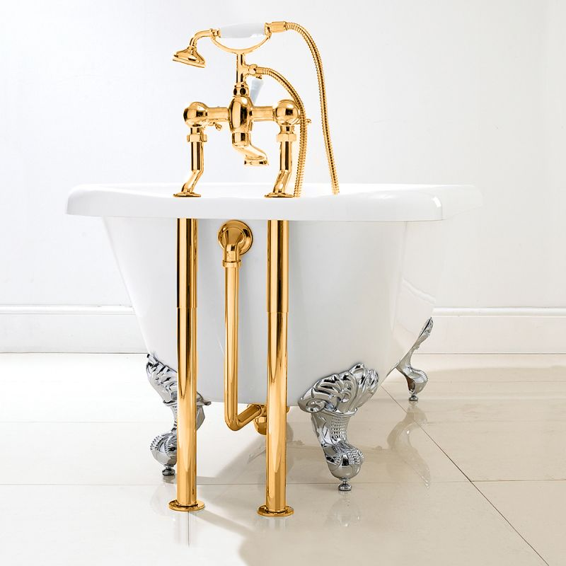 dorato traditional roll top bath pack in 24ct gold