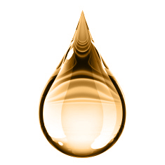 Gold Water Droplet