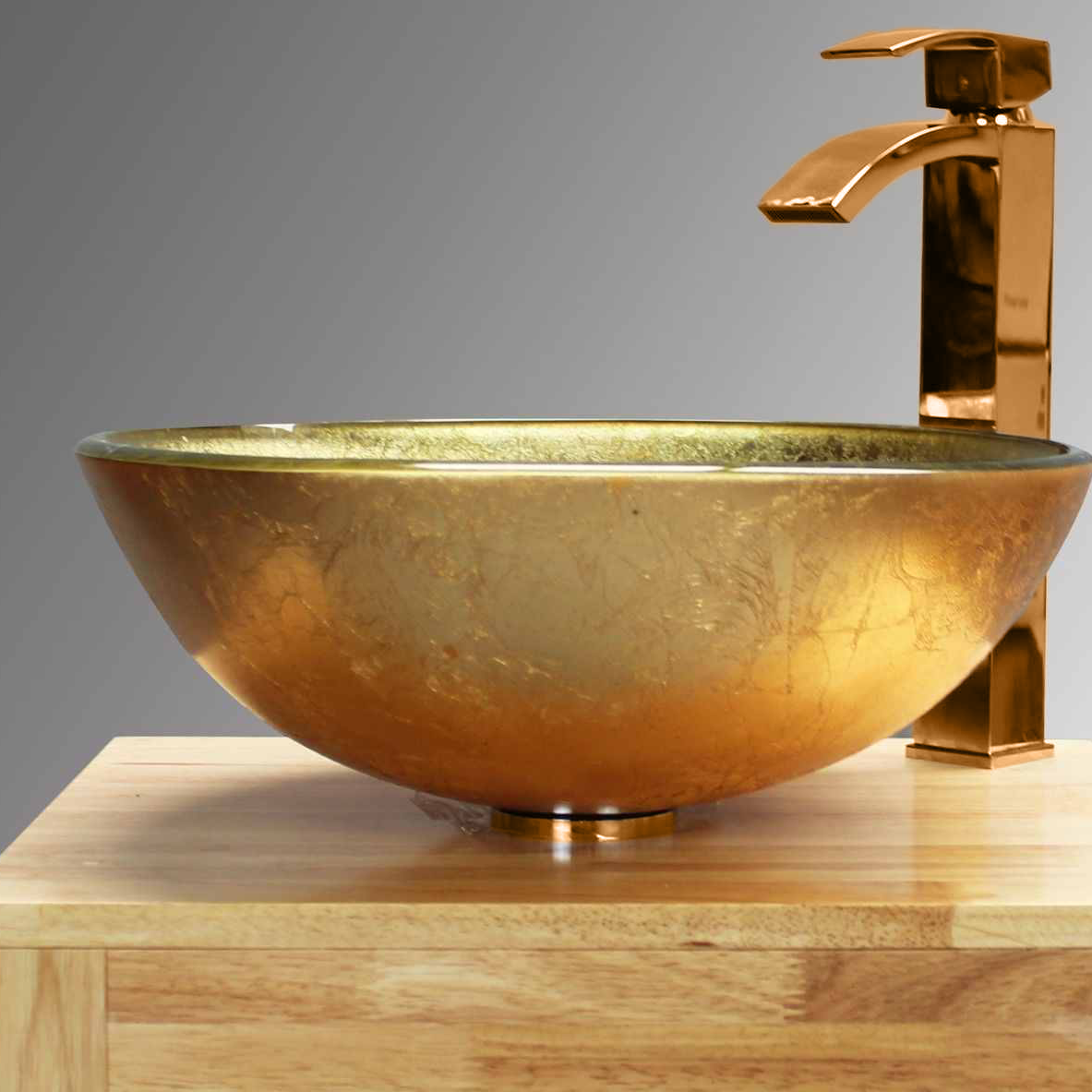 Dorato Gold Counter Top Glass Basin