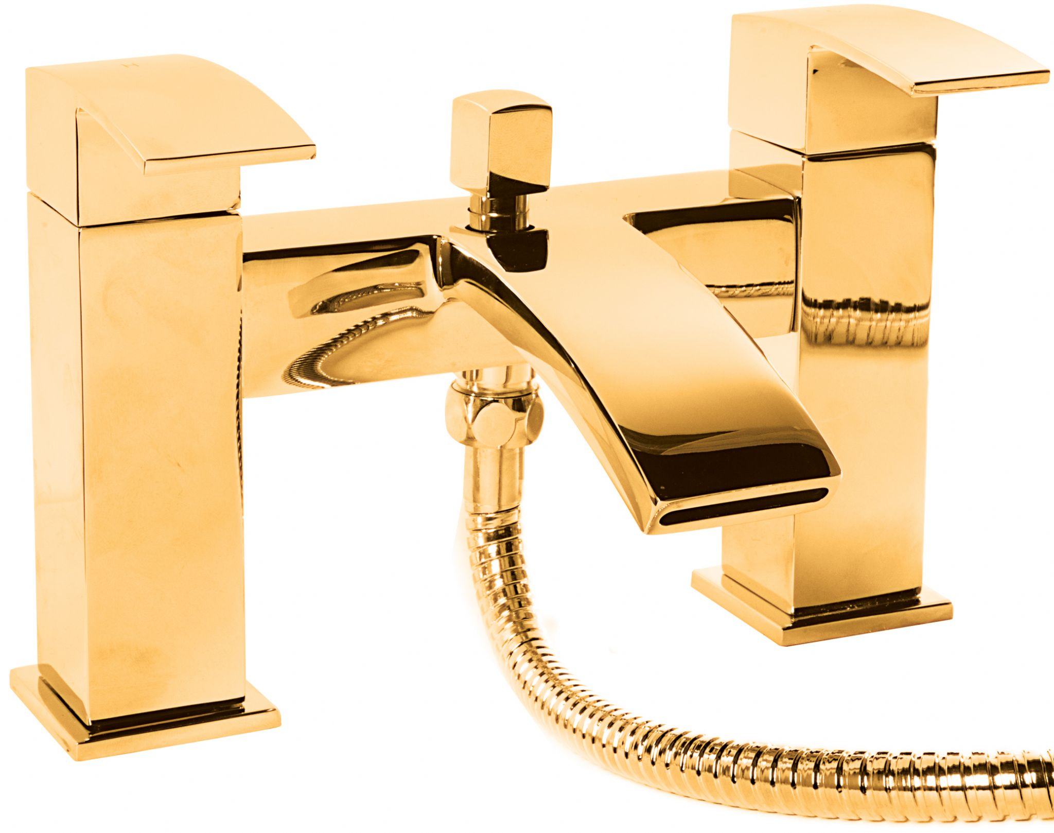 DoratO Minimo Bath Shower Mixer Tap in 24ct Gold