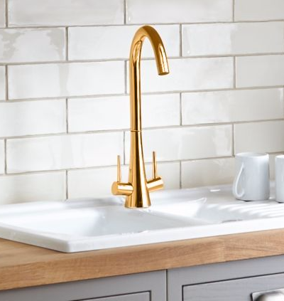 Gold High Rise Kitchen Taps