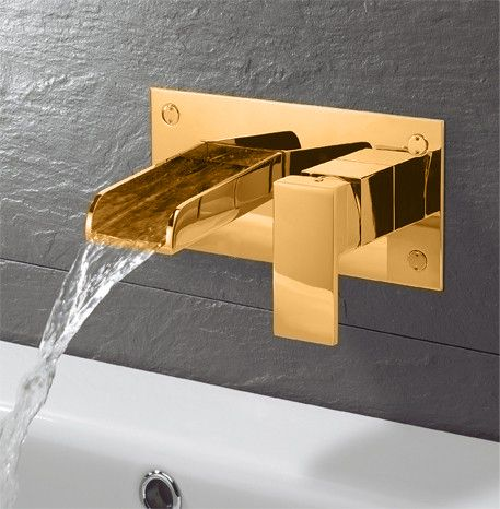 Gold Wall Mounted Taps