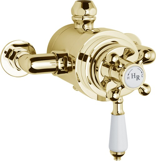 Hudson Reed Traditional Twin Exposed Thermostatic Shower Valve 24ct ...