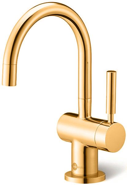 Insinkerator Steaming Hot and Cold filtered kitchen tap in Dorato 24ct Gold